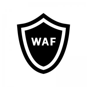 WAF(Webアプリケーションファイアウォール)の白黒シルエットイラスト04