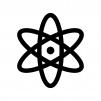 原子の白黒シルエットイラスト