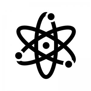 原子の白黒シルエットイラスト02