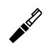 フェイスシェーバーの白黒シルエットイラスト02