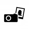 ポートレート写真の白黒シルエットイラスト02