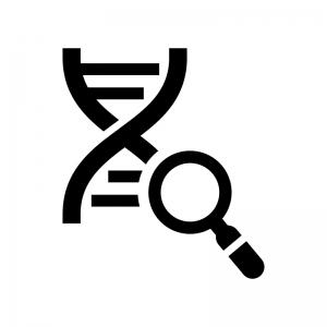 DNA鑑定の白黒シルエットイラスト