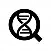 DNA鑑定の白黒シルエットイラスト02
