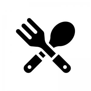 レストラン・飲食店の白黒シルエットイラスト02