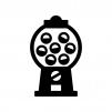 ガチャガチャ(カプセル自動販売機)の白黒シルエットイラスト02
