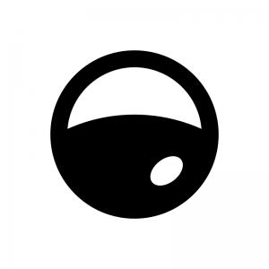 ガチャガチャ(カプセル自動販売機)のカプセルの白黒シルエットイラスト02