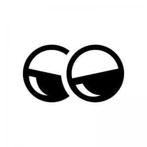 ガチャガチャ(カプセル自動販売機)のカプセルの白黒シルエットイラスト03