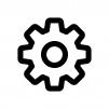 歯車・設定の白黒シルエットイラスト05