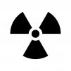 原子力マークの白黒シルエットイラスト