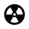 原子力マークの白黒シルエットイラスト02