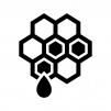 蜂の巣・ハチミツの白黒シルエットイラスト02