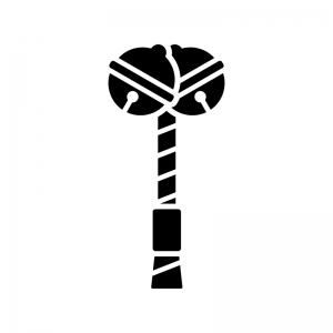 本坪鈴(ほんつぼすず)の白黒シルエットイラスト