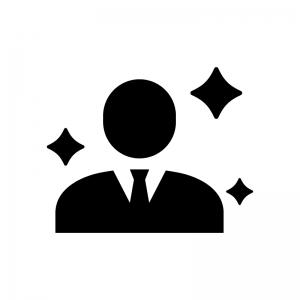 新入社員の白黒シルエットイラスト02
