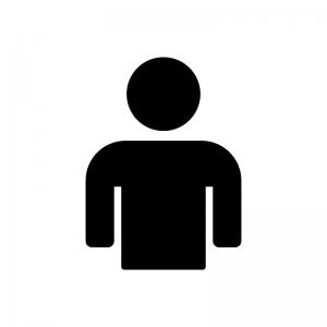 シンプルな人物の白黒シルエットイラスト