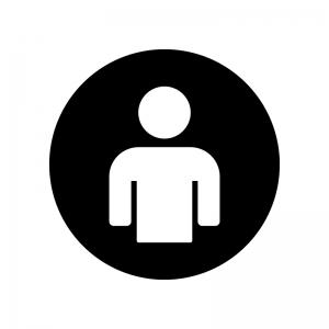 シンプルな人物(白抜き)の白黒シルエットイラスト