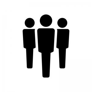 チーム・グループの白黒シルエットイラスト03
