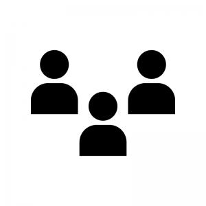 チーム・グループの白黒シルエットイラスト06