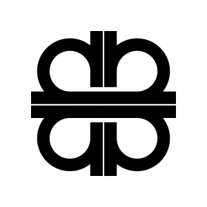 ジャンクション(JCT)の白黒シルエットイラスト02
