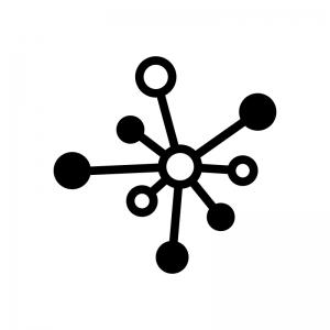 科学・分子構造の白黒シルエットイラスト02