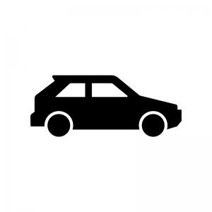 自動車の白黒シルエットイラスト
