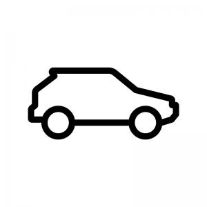 自動車の白黒シルエットイラスト02