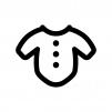 ベビー服の白黒シルエットイラスト02