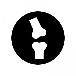 関節の白黒シルエットイラスト02