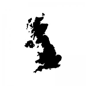 イギリスの白黒シルエットイラスト