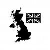 イギリスの白黒シルエットイラスト02