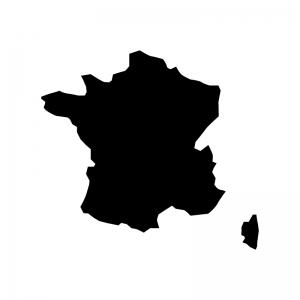 フランスの白黒シルエットイラスト