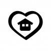 お家の安心・サポートの白黒シルエットイラスト