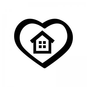お家の安心・サポートの白黒シルエットイラスト02
