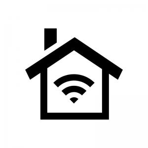 ホームネットワークの白黒シルエットイラスト