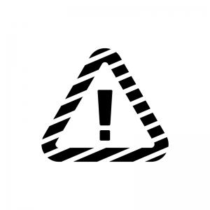 注意・アラートの白黒シルエットイラスト02