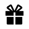 プレゼント箱の白黒シルエットイラスト03