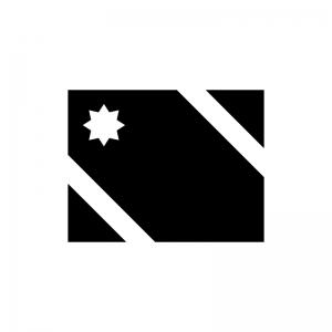 プレゼント・ギフトの白黒シルエットイラスト02