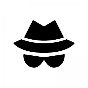 ハッカー(セキュリティー)の白黒シルエットイラスト