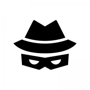 ハッカー(セキュリティー)の白黒シルエットイラスト02