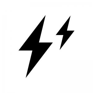 静電気の白黒シルエットイラスト