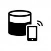 スマホのデータ通信料の白黒シルエットイラスト