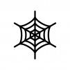 蜘蛛の巣の白黒シルエットイラスト02