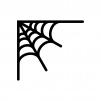 蜘蛛の巣の白黒シルエットイラスト03