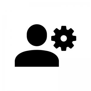 ユーザー設定の白黒シルエットイラスト02