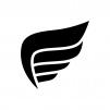 翼・羽の白黒シルエットイラスト