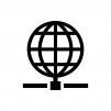 インターネット・ネットワークの白黒シルエットイラスト02