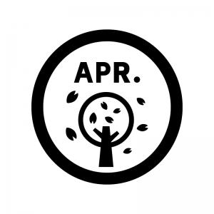 4月のイベントアイコンのシルエット 無料のai Png白黒シルエットイラスト