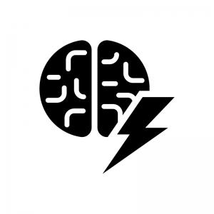 直感・インスピレーションの白黒シルエットイラスト02