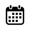 カレンダー・スケジュールの白黒シルエットイラスト