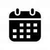 カレンダー・スケジュールの白黒シルエットイラスト02
