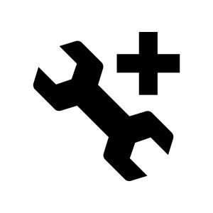 カスタマイズの白黒シルエットイラスト02